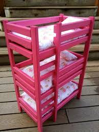 Make Wood Bunk Beds by Ana White Triple Doll Bunk Bed Diy Projects