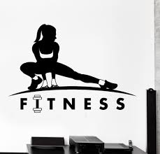 wall vinyl decal fitness sport gym bodybuildng home interior