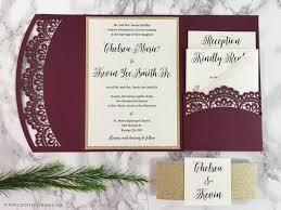 doily laser cut pocket wedding invitation u2014 cz invitations