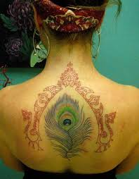 hippie tattoo on upper back in 2017 real photo pictures images