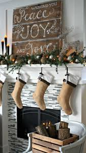 decorations old board with chalk quotes christmas fireplace