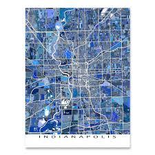 Maps Indianapolis Indianapolis Map Print Indiana Usa U2013 Maps As Art