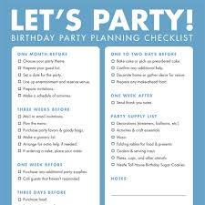 checklist essentials setting up house diy printable birthday party checklist