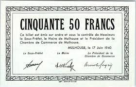chambre de commerce mulhouse banknote 50 francs mulhouse chambre de commerce série b