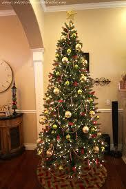 christmas tree with beads christmas lights decoration