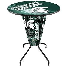 36 round bar height table bar stool l218b42michst36rmichst d2 michigan state university 36