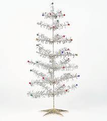 modern design tinsel tree retro 1950s style glitter
