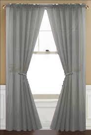 amazon com awad home fashion 2 panels solid gray grey sheer