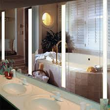 Backlit Mirrors For Bathrooms Backlit Mirror Aamsco Lighting