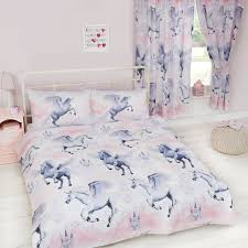 Bedding Cover Sets by Stardust Unicorn Duvet Cover Sets U0026 Matching Curtains Single