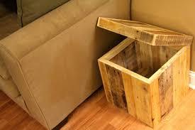 Wood Storage Ottoman Reclaimed Pallet Wood Storage Ottoman Handmade