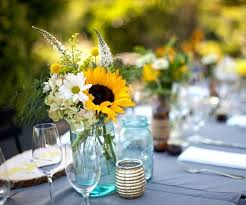 sunflower centerpieces sunflower table decorations decor ideas