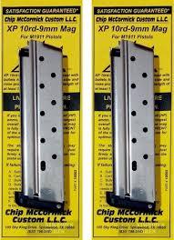 chip magazine 2 pack chip mccormick 1911 xp 9mm 10 round magazine ss 19003