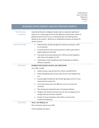 Example Of Business Analyst Resume Business Intelligence Analyst Resume Samples And Skills