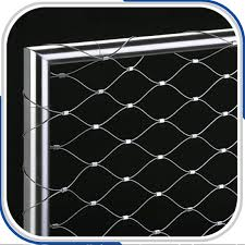 flexible stainless steel cable net for stairs railing flexible