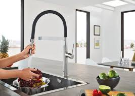 How To Clean Kitchen Faucet by Grohe Essence New Semi Pro Single Handle Pull Down Kitchen Faucet