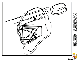 hockey helmet coloring pages