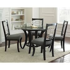 Silver Dining Tables Steve Silver Cy480t Cy480b Cayman Dining Table In Black