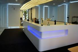 Ikea Reception Desk Captivating Ceiling And Ikea Reception Desk Design With Blue Led