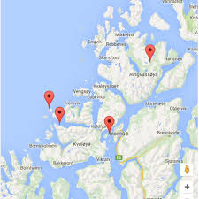 northern lights location map whale safari northern lights from tromso polar holidays