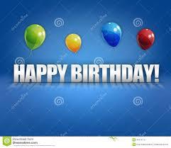 happy birthday balloons 3d background royalty free stock photos
