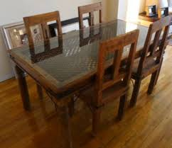 amazing moroccan style glas dinning table wwith chairs