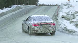 2018 audi a8 caught testing in the snow youtube