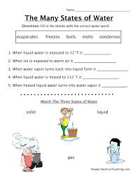 many states of water worksheet have fun teaching