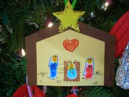 thumbprint manger one of my favorite crafts to do for christmas