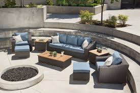 Wicker Table And Chairs Outdoor New Boston 8 Pc Patio Set Sofa 2 Chairs U0026ottomans Sides U0026coffee