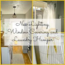 Door Laundry Hamper by Laundry Room Redo New Lighting Window Covering And Laundry