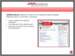jamaevidence from jama and mcgraw hill is the premier online