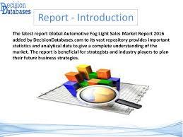 global automotive fog light sales market report release cos
