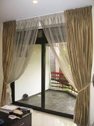 Sliding Door Curtain Ideas Sliding Glass Doors With Curtains Centralazdining