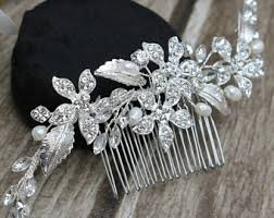 wedding hair combs bridal hair combs etsy