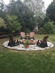 Country Backyards Brooklyn Limestone Country Cottage Diy Circular Firepit Patio