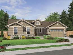 Single Story Ranch Homes The Avondale Craftsman Style Ranch House Plan With Stone Accents