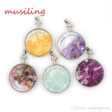 make glass necklace pendants images Wholesale wishing bottle pendants necklace natural stone amethyst jpg