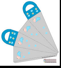 free printable boy baby shower favor bags