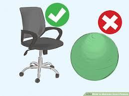 4 ways to maintain good posture wikihow