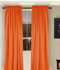 Burnt Orange Curtains Sale Solid Orange Or Burnt Orange Cotton Long Curtains Lined Or Unlined