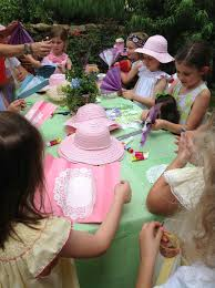 tea party hats birthday party ideas garden tea party