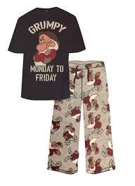disney seven dwarfs mr grumpy mens pyjamas 2 pj top