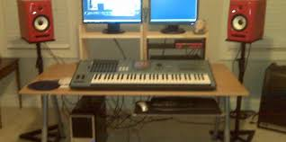 Diy Recording Desk Astounding Studio Desk Plans 35 Home Recording Design Ideas