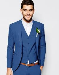 costume invit mariage asos wedding veste de costume bleu moyen beau