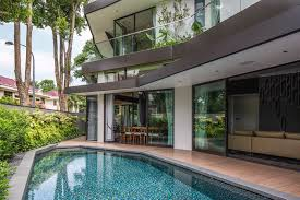 Home Courtyard by Singapore U0027s Trevose House Is A Multi Generational Home Covered In