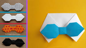 halloween bow ties how to make a paper bowtie for father u0027s day youtube