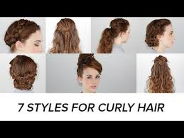 updos for curly hair i can do myself 7 easy hairstyles for curly hair beauty junkie youtube