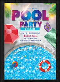 free pool party flyer templates download pool party flyer template