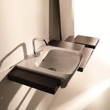 semi recessed bathroom sinks ws bath collections inka 3412 semi recessed bathroom sink 15 7 x
